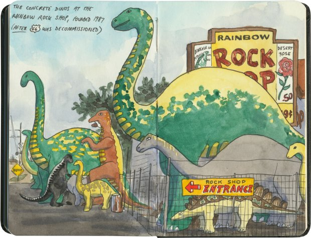 chandler_oleary_route66_az_holbrook_dinosaurs_rainbowrockshop